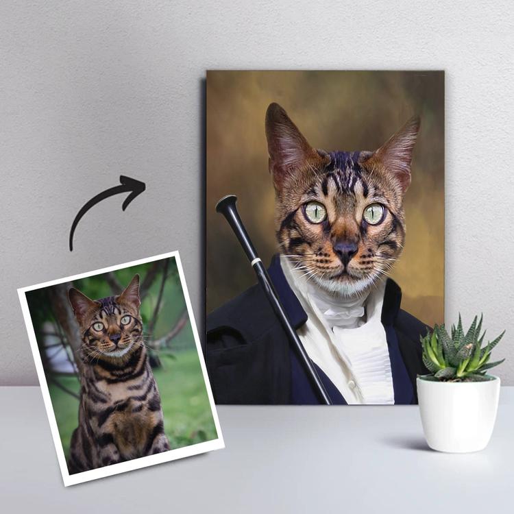 Personligt Djurporträtt - Canvastavla