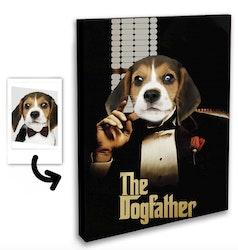 Personligt Djurporträtt - Dogfather Canvas