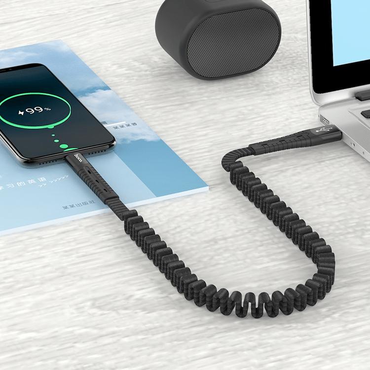 USB /USB-C Elastisk Laddkabel
