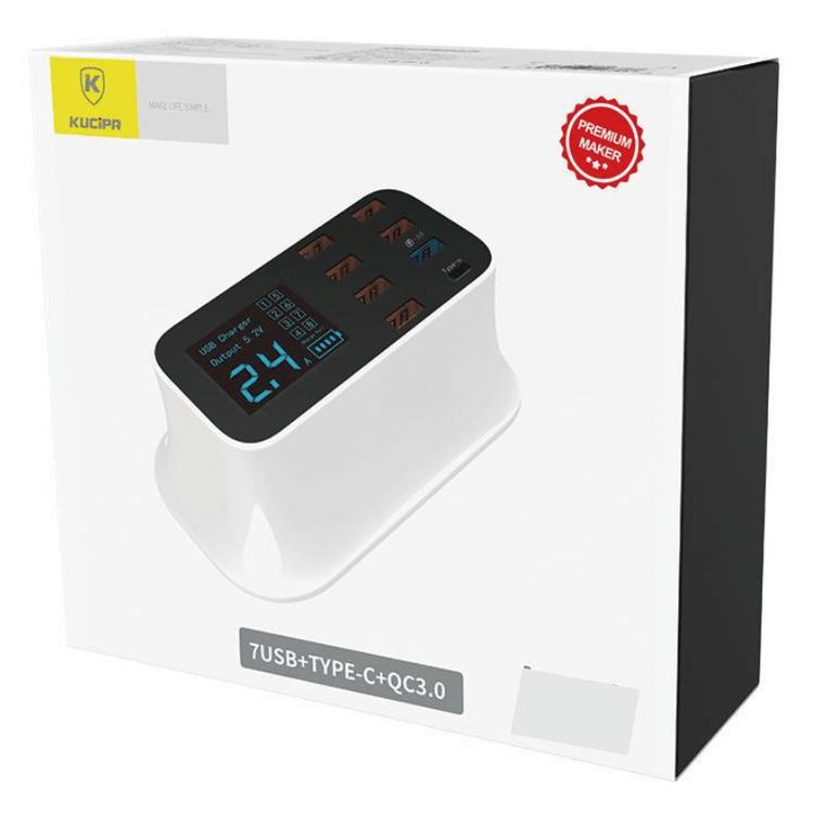 USB-Laddningsstation 8-portar Usb-C PD