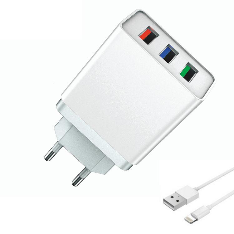 Snabbladdare QC3.0 med Lighting Kabel