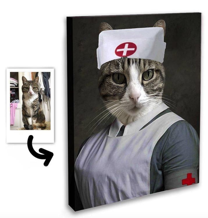 Personligt Djurporträtt - Sjuksköterska