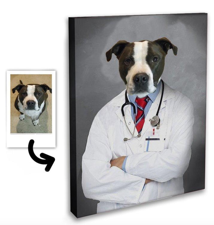 Personligt Djur Porträtt - Läkare
