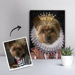Personligt Djurporträtt - Royal Krona