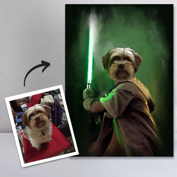 Personligt Djurporträtt - Jedi
