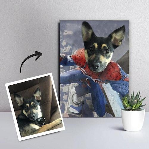 Personligt Djurporträtt Canvas - Spider Paw