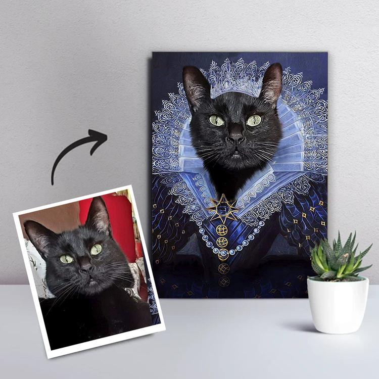 Blå Prinsessa - Katt Porträtt