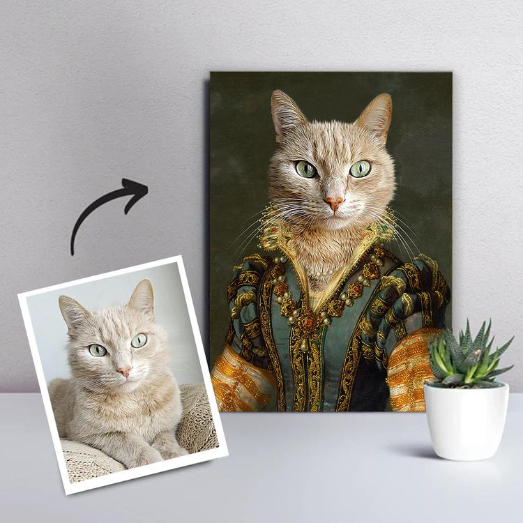 Personligt Djurporträtt Canvas - Grevinnan