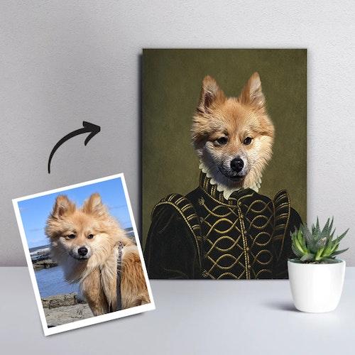 Personligt Djurporträtt Canvas - Louis