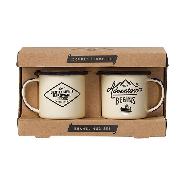 Emaljmuggar Espresso Cream