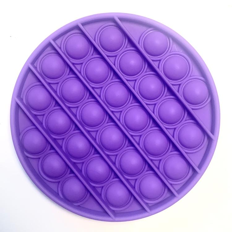Lila cirkel pop it leksak