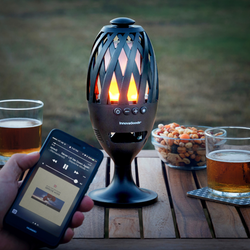 LED Fackla med Bluetooth Högtalare