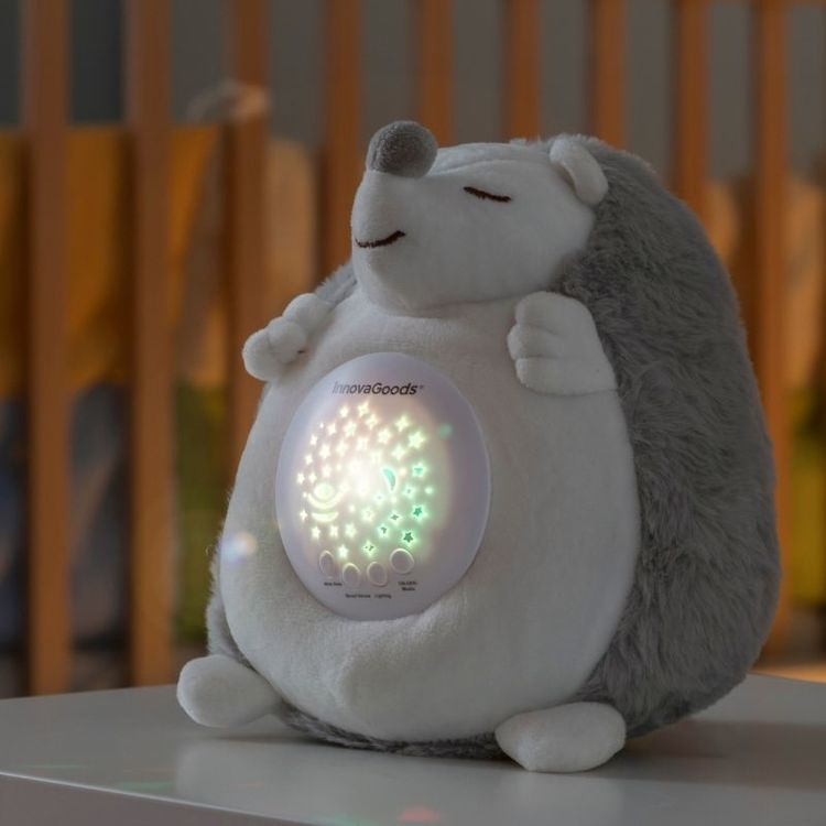 Nattlampa Igelkott med Vita Ljud