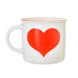 Rött Hjärta Mugg