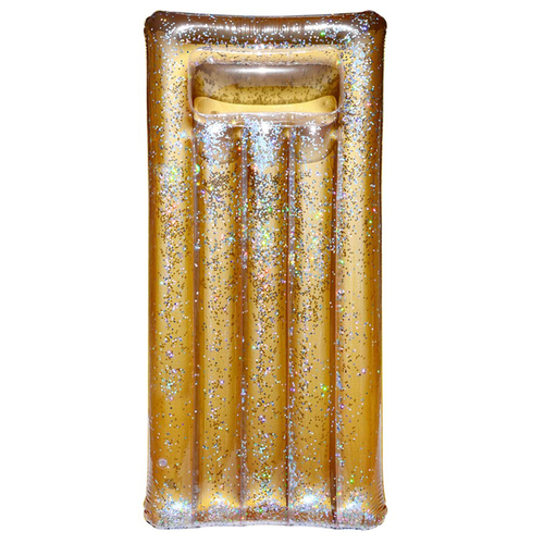 Uppblåsbar Badmadrrass Glitter