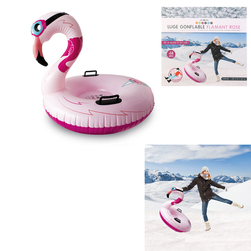 Uppblåsbar-Pulka -Flamingo