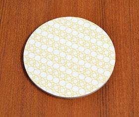 Glasunderlägg Cirkel/blad, vit
