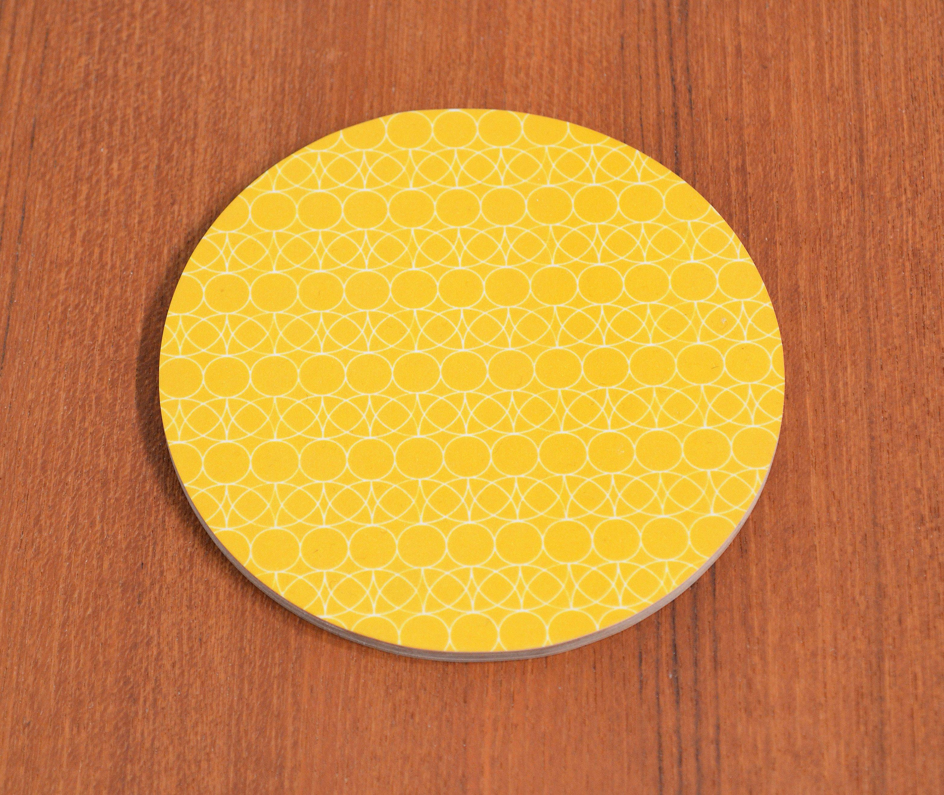 Glasunderlägg Cirkel/blad, orange