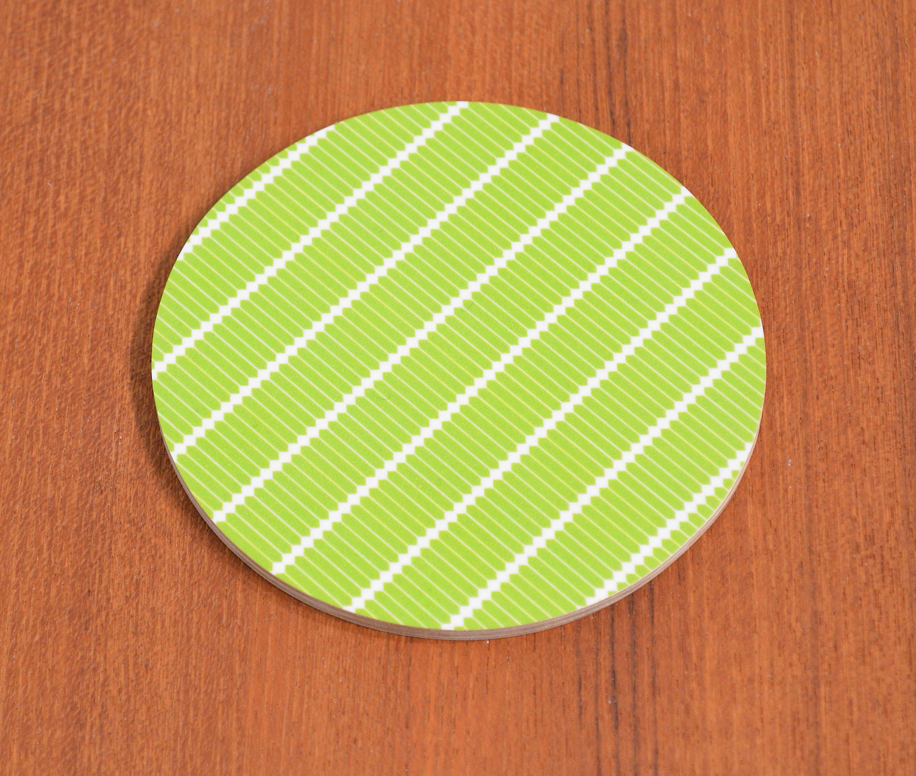 Glasunderlägg Stavar, ljusgrön