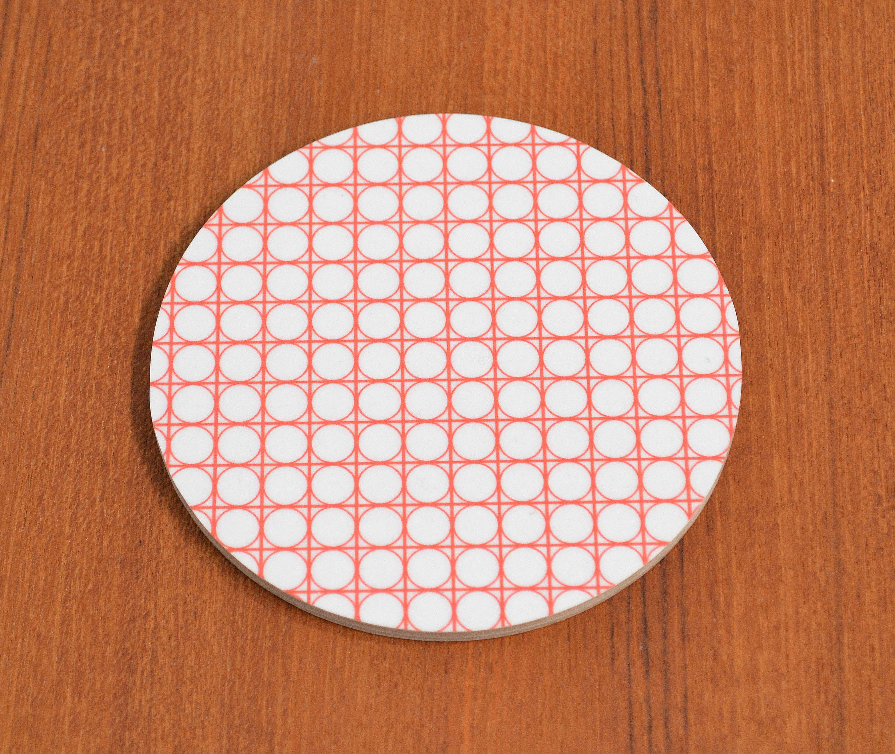 Glasunderlägg Cirkel, vit