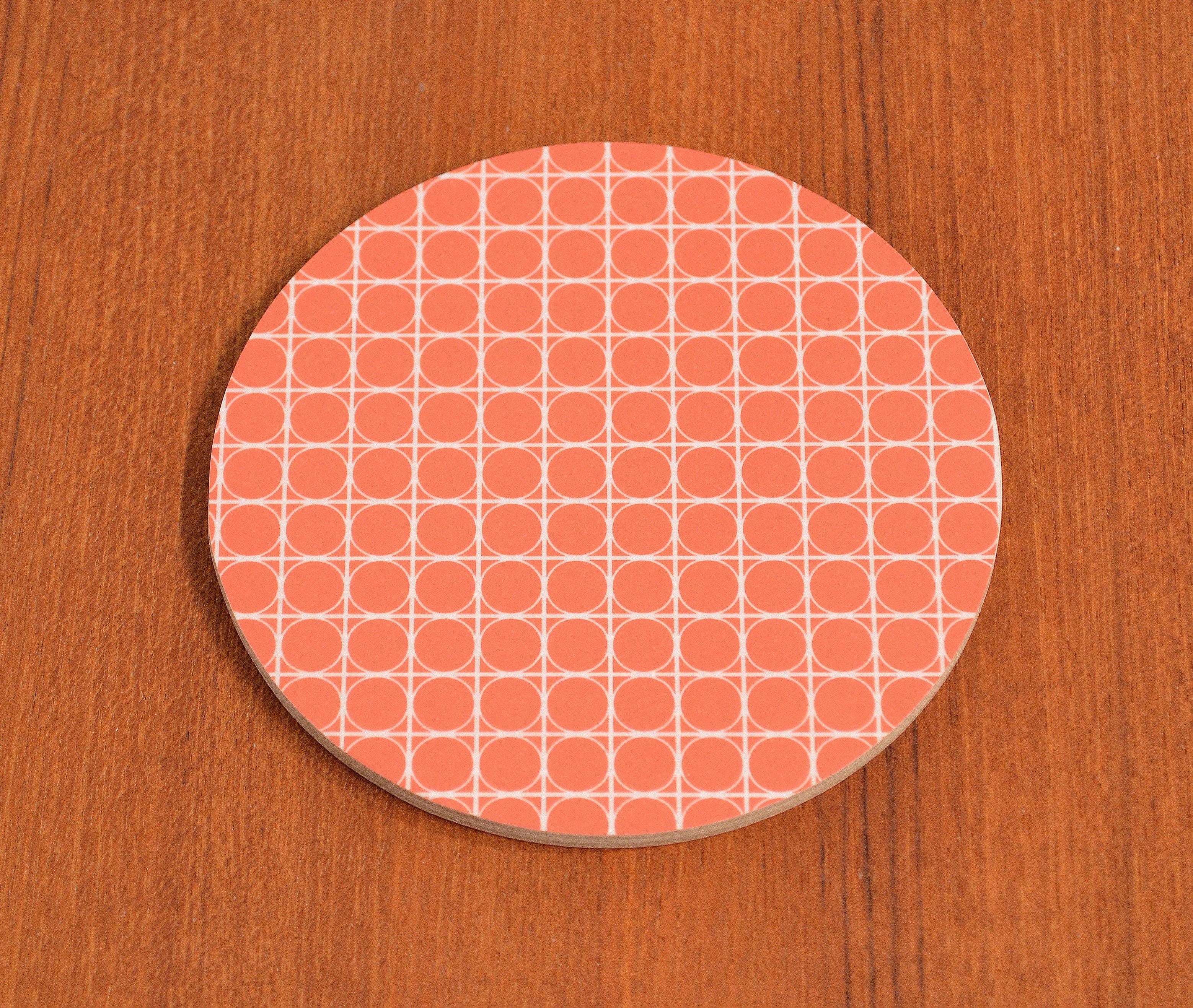 Glasunderlägg Cirkel, röd