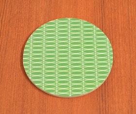 Glasunderlägg Oval, grön