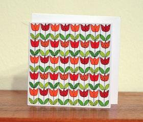 Dubbeltkort med kuvert, Med en enkel tulipan...