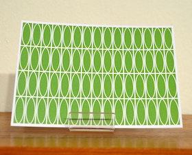 Vykort Oval, grönt