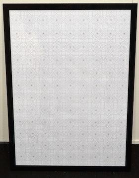 Pappersark eller Poster Mandala, svart/vit