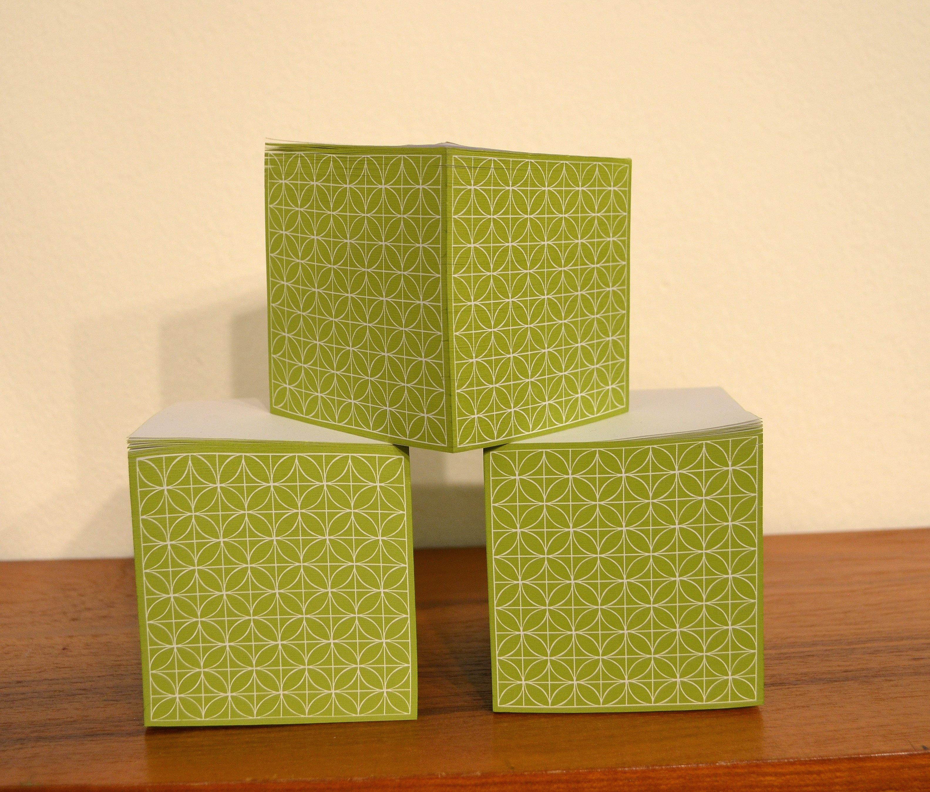 Kubblock Blad, grönt