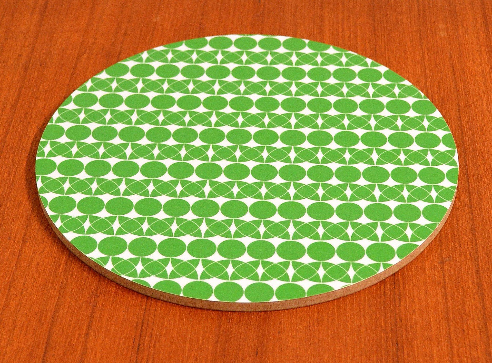 Grytunderlägg Cirkel/blad, grönt