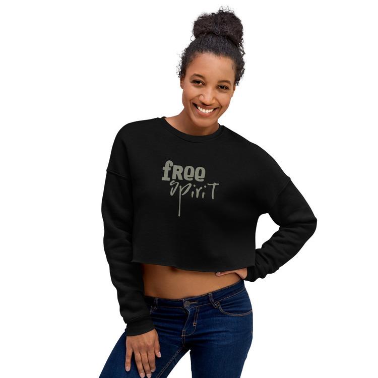 Crop Sweatshirt - Black - M