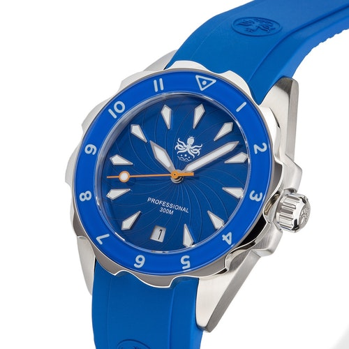 Phoibos PX021B Sea Nymf Lady Diver watch 300M blue
