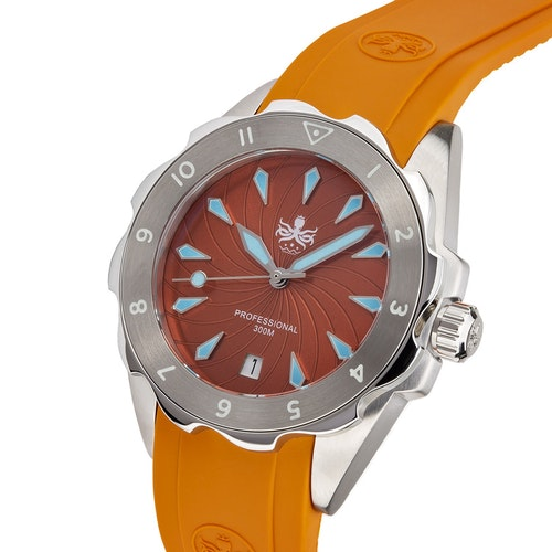 Phoibos Sea Nymf PX021D Lady Diver Watch Orange