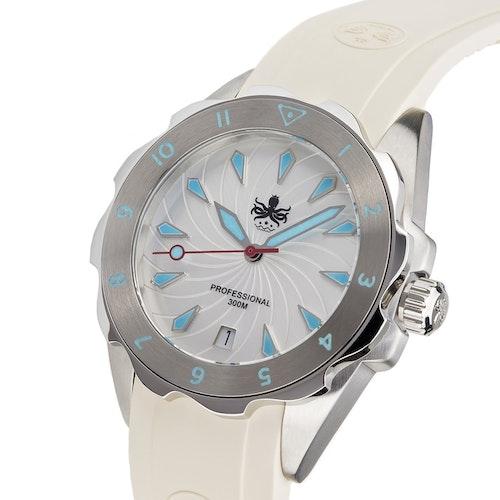 Phoibos Sea Nymf PX021F 300M Lady Diver Watch White