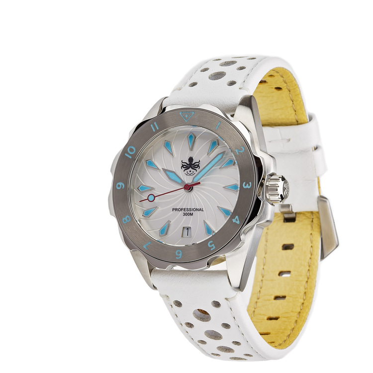 Phoibos Sea Nymf PX021F 300M Lady Diver Watch White