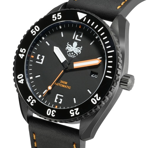 PHOIBOS REEF MASTER PY015D DLC 300M Automatic Diver Watch Orange.