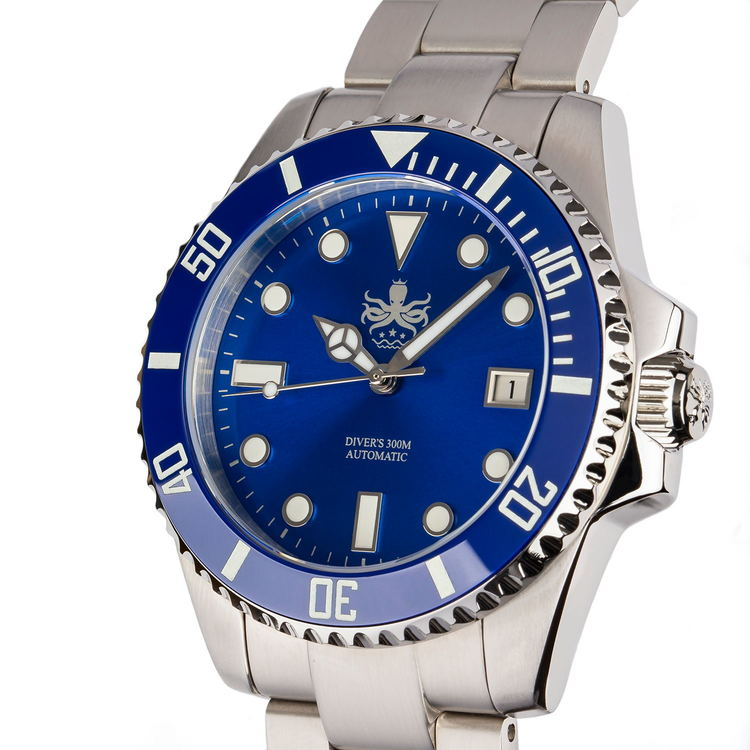 Phoibos PY007B Automatic 300M Diver watch Blue
