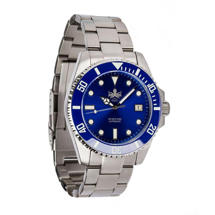 Phoibos PY007B Automatic 300M Diver watch Blue