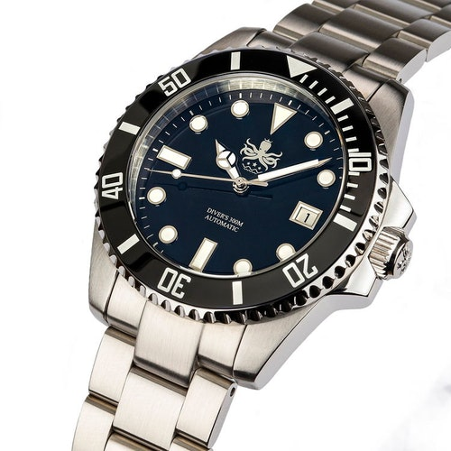 Phoibos PY007C Automatic 300M Diver Watch Black