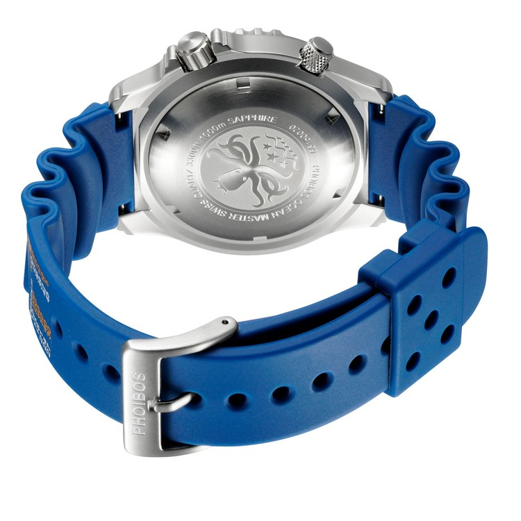Ocean Master PHOIBOS Men's PX005B 1000M Dive Watch Blue