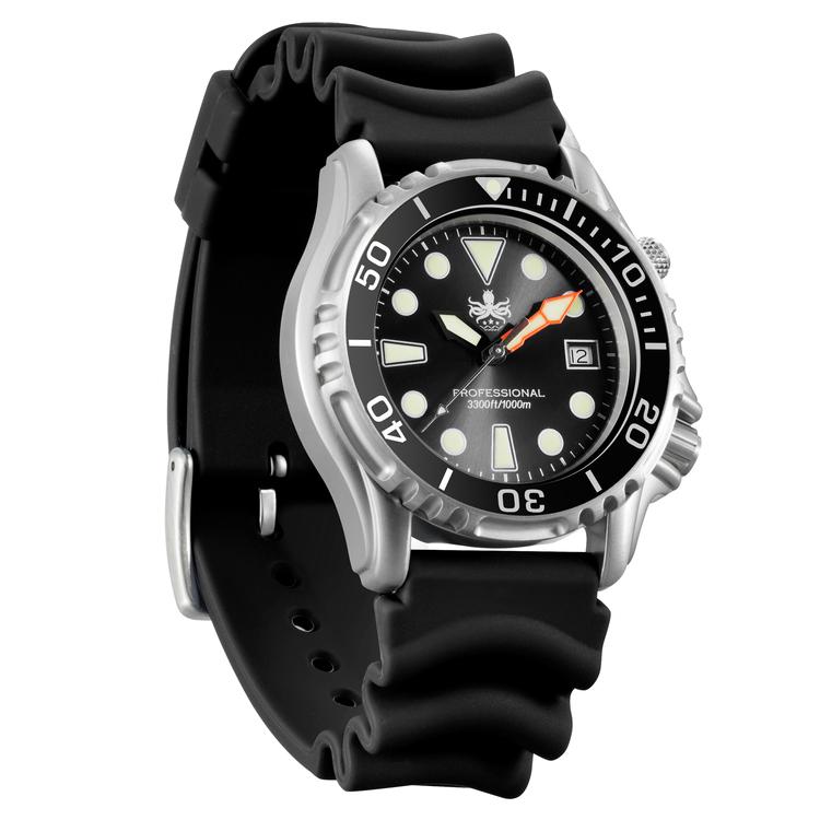 Phoibos Ocean Master PX005C 1000M Dive Watch Black