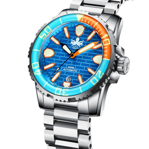 PHOIBOS GREAT WALL 500M Automatic Diver Watch PY022B Blue