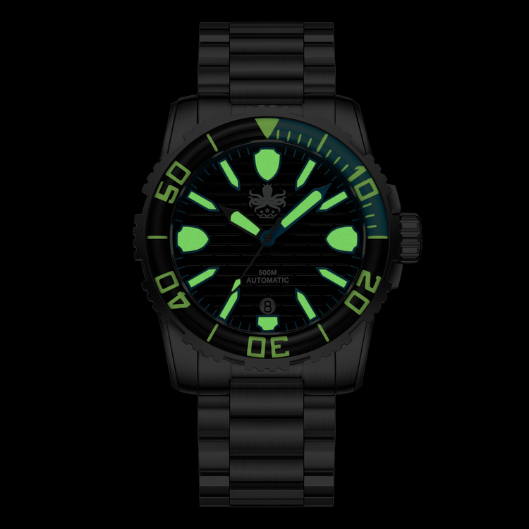 PHOIBOS GREAT WALL 500M Automatic Diver Watch PY022C Black