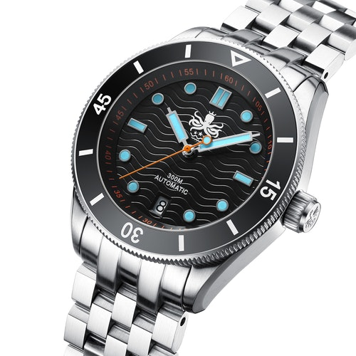 PHOIBOS WAVE MASTER PY010C 300M Automatic Dive Watch Black(Date)