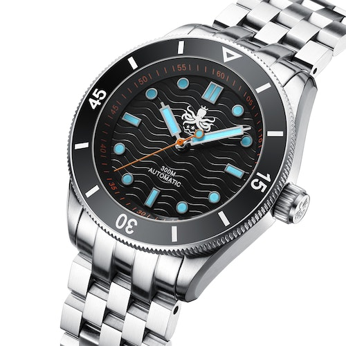 PHOIBOS WAVE MASTER PY009C 300M Automatic Dive Watch Black(No date)