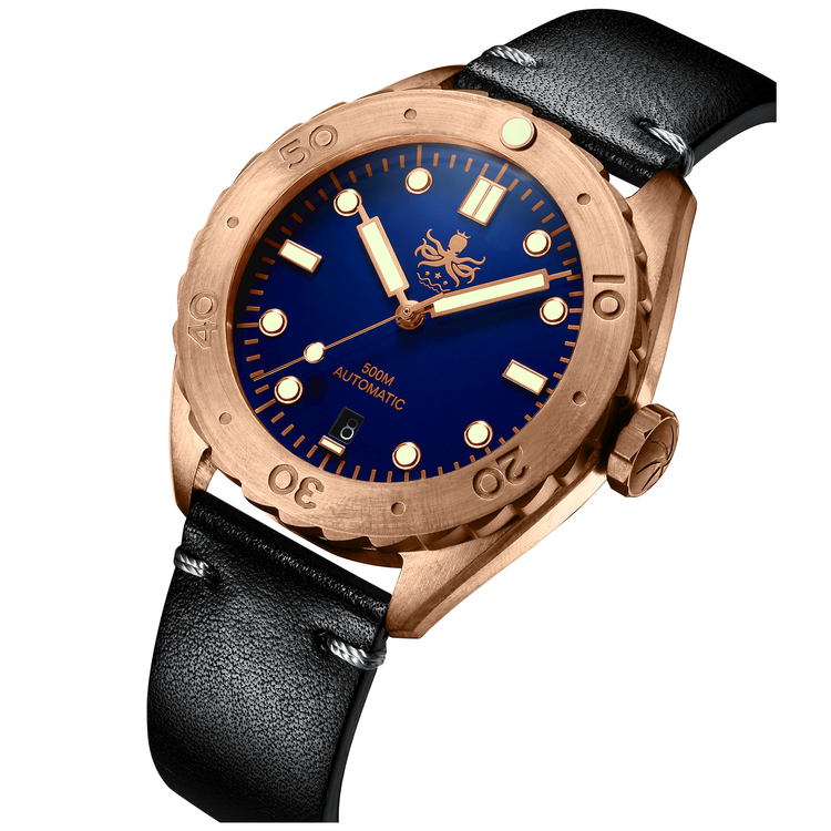 Eagle Ray Bronze PY018B 500M Automatic diver watch blue