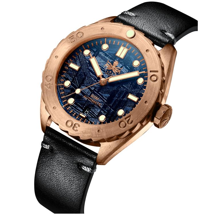 Eagle Ray bronze PY018E 500M Automatic Diver watch Blue meteorite