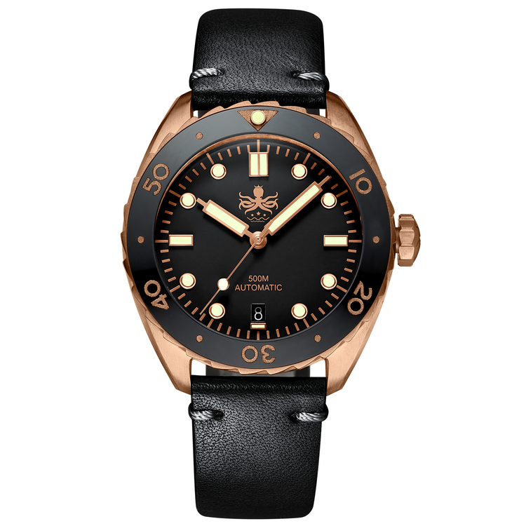 Eagle Ray Bronze PY018D Automatic Diver watch Black