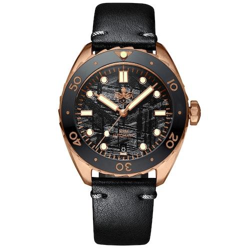 Eagle Ray Bronze PY018F 500M Automatic Diver watch Black meteorite